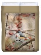 Tufted Titmouse 2 Duvet Cover
