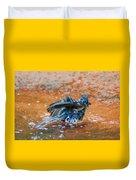 Tufted Titmouse Bath Duvet Cover