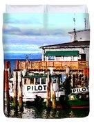 Tugboat At Rest Duvet Cover
