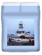 Tugboat At Twilight Duvet Cover