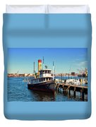 Tugboat Baltimore At The Museum Of Industry Duvet Cover