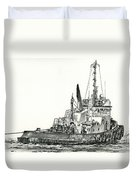 Tugboat David Foss Duvet Cover
