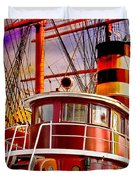 Tugboat Helen Mcallister Duvet Cover by Chris Lord