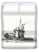 Tugboat Lela Foss Duvet Cover