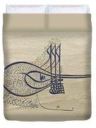 Tughra Of Suleiman The Magnificent Duvet Cover