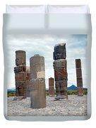 Tula: Toltec Monuments Duvet Cover