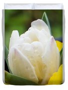 Tulip Among Pansies 2 Duvet Cover