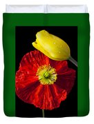Tulip And Iceland Poppy Duvet Cover by Garry Gay
