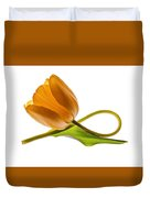 Tulip Art On White Background Duvet Cover
