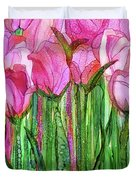 Tulip Bloomies 1 - Pink Duvet Cover