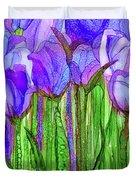 Tulip Bloomies 1 - Purple Duvet Cover