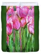 Tulip Bloomies 2 - Pink Duvet Cover