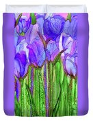 Tulip Bloomies 2 - Purple Duvet Cover