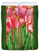 Tulip Bloomies 2 - Red Duvet Cover
