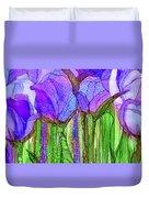 Tulip Bloomies 4 - Purple Duvet Cover