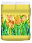 Tulip Bloomies 4 - Yellow Duvet Cover