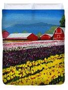 Tulip Fields Duvet Cover