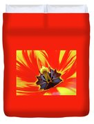 Tulip Flower Floral Art Print Red Yellow Tulips Baslee Troutman Duvet Cover