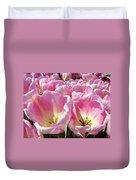 Tulip Flowers Garden Art Pink Tulips Baslee Troutman Duvet Cover