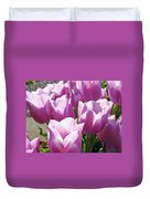 Tulip Garden Flowers Purple Lavender Pastel Art Baslee Troutman Duvet Cover