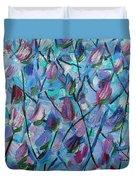 Tulip Harmony- Abstract Art Duvet Cover