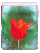 Tulip In Abstract. Duvet Cover