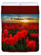 Tulip In Sunset Duvet Cover