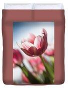 Pink Tulip Closeup Duvet Cover