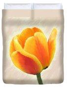 Tulip Orange Duvet Cover