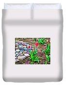 Tulip Rock Garden Duvet Cover