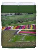 Tulip Town Aerial Duvet Cover