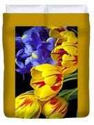 Tulips And Iris Duvet Cover