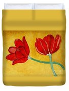 Tulips And Love Happy Together Duvet Cover