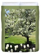 Tulips And Tees Duvet Cover