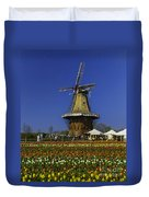 Tulips At The Windmill Duvet Cover