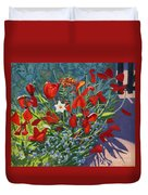 Tulips By The Gate Duvet Cover