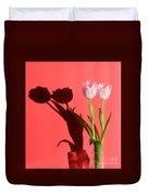 Tulips Casting Shadows Duvet Cover
