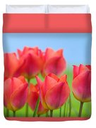 Tulips Close Up  Duvet Cover