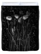 Tulips Decaying At Sunset Duvet Cover