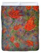 Tulips- Floral Art- Abstract Painting Duvet Cover