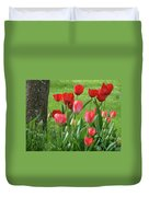Tulips Flowers Art Prints Spring Tulip Flower Artwork Nature Art Duvet Cover