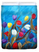 Tulips Galore II Duvet Cover
