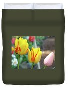 Tulips Garden Art Prints Yellow Red Tulip Flowers Baslee Troutman Duvet Cover