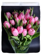 Tulips In A Glass Vase Duvet Cover