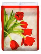 Tulips In A Vase Duvet Cover