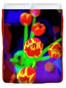 Tulips In Abstract Duvet Cover