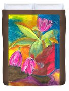 Tulips In Can Duvet Cover