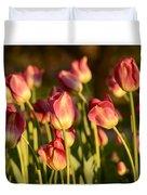 Tulips In Public Garden Duvet Cover