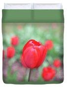 Tulips In Spring 4 Duvet Cover