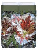 Tulips In Springtime Photomosaic Duvet Cover
